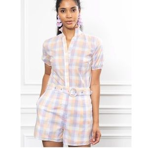 THE SHIRT. The Button Down Romper By Rochelle Behr